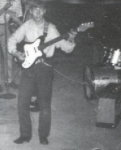 Ned playing at a party in 1966. Ned was in a band with Gary Walters & Bill Higgins, fellow classmates.