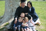 My daughter Sarah and her husband Angelo and our grandkids, Jaxson, Liam, Emeline and Chaucer.  Angelo is from Costa Ric