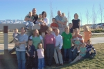 Jan Johnson Black (Randy) This is a recent family photo at the park. Four children with spouses and twelve grandchildren